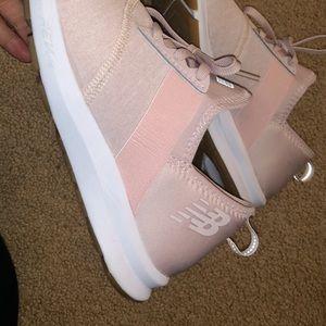 blush pink NB tennis shoes